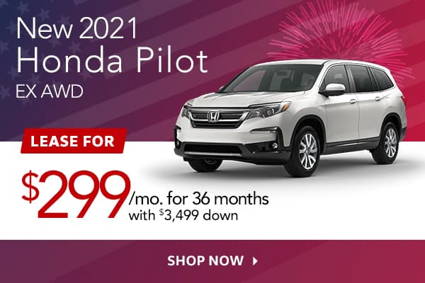 New 2021 Honda Pilot EX AWD
