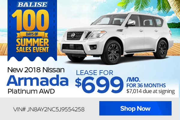 New 2018 Nissan Armada Platinum AWD
