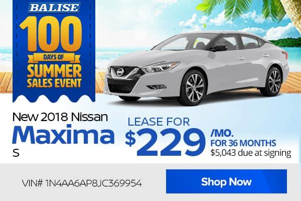 New 2018 Nissan Maxima S