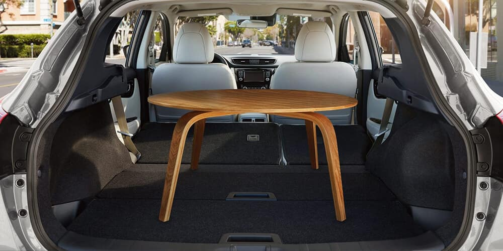 2018.5 Nissan Rogue Cargo Area with Table
