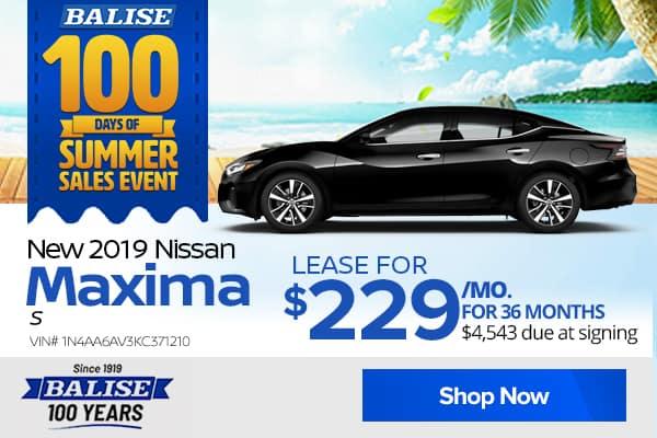 New 2019 Nissan Maxima S