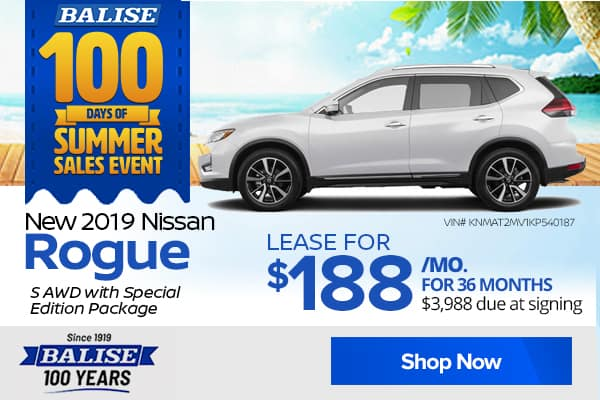 New 2019 Nissan Rogue S AWD with Special Edition Package
