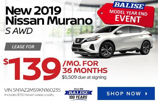 New 2019 Nissan Murano S AWD