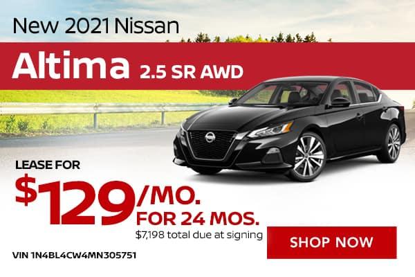 New 2021 Nissan Altima 2.5 SR AWD