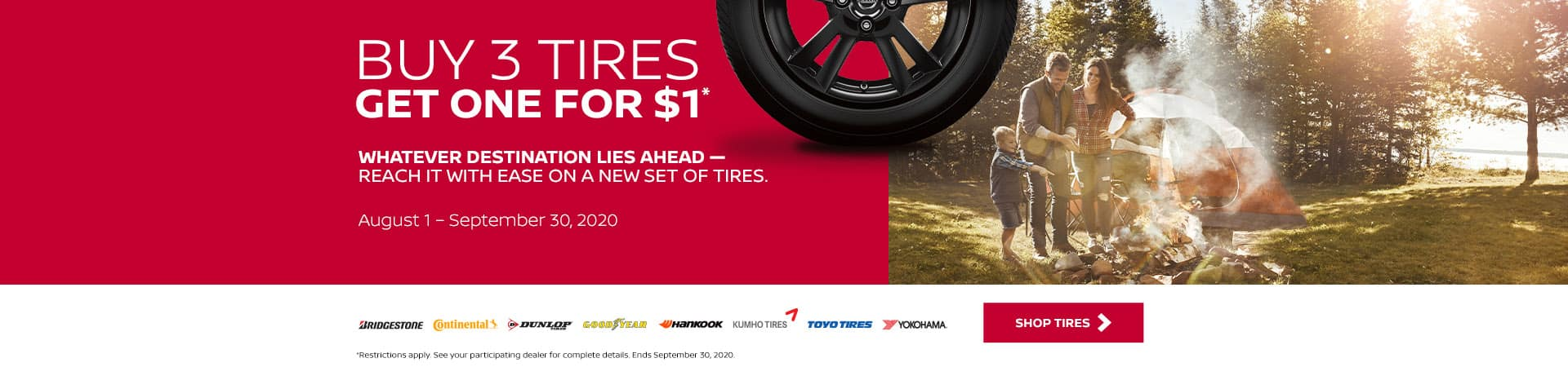 Buy 3 Tires, Get 1 for $1