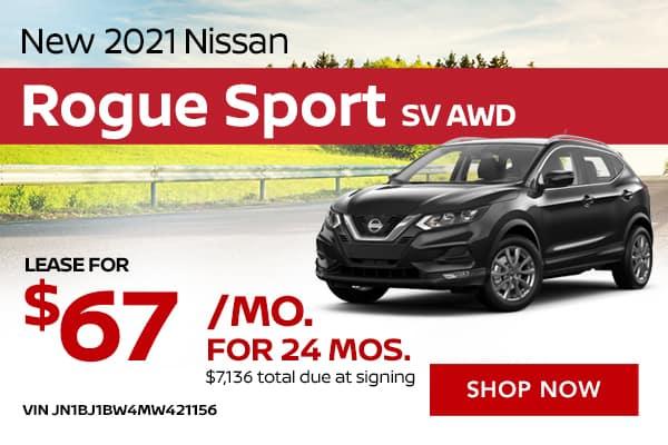 New 2021 Nissan Rogue Sport SV AWD