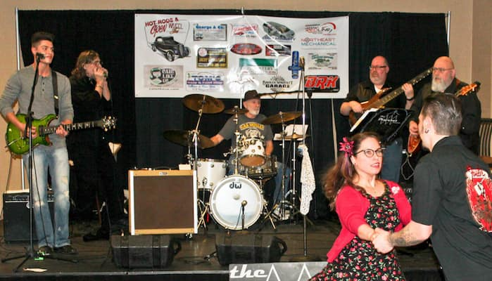 Live band performing at Buffalo Motorama
