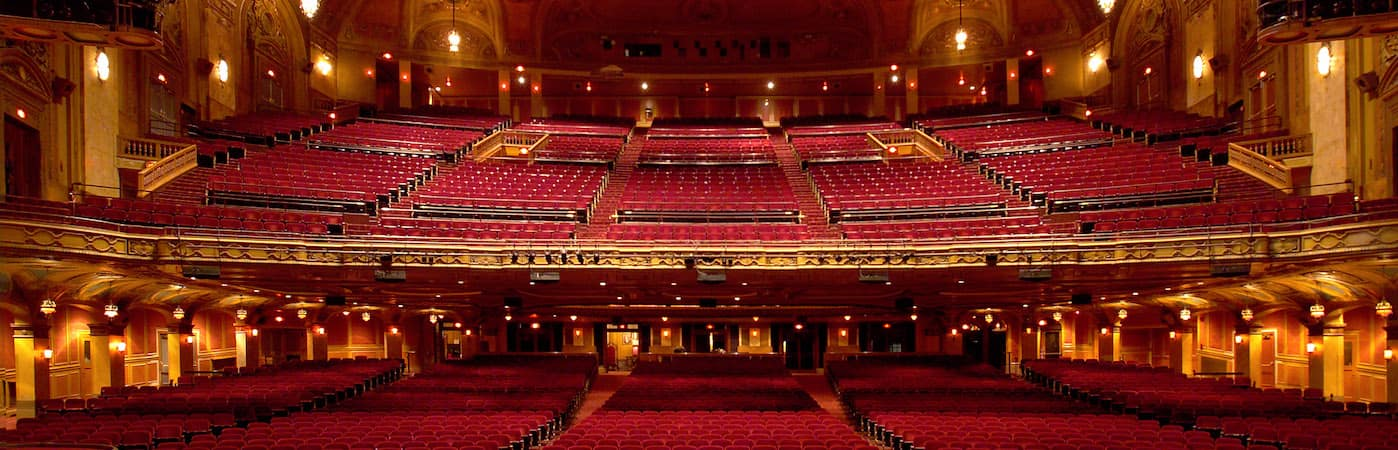 View of seats in Shea's Buffalo Theater from stage