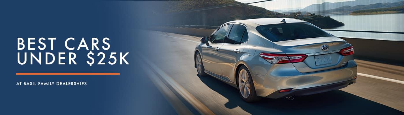 Best Cars & SUVs Under $25,000 at Basil Family Dealerships