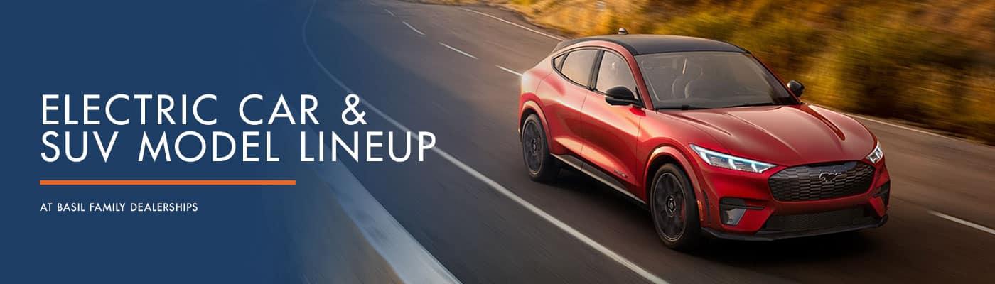 Electric Car & SUV Model Lineup