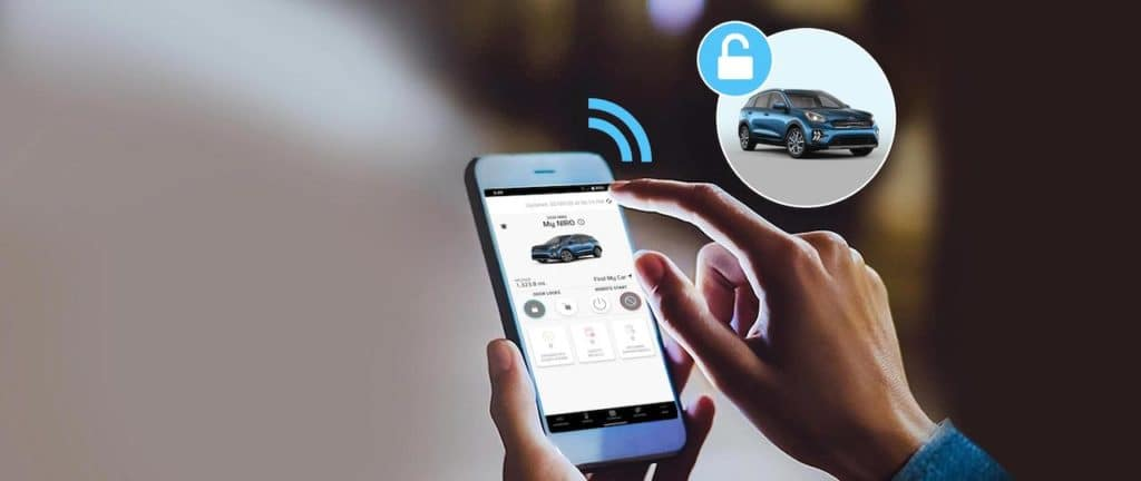 Cell phone locking vehicle remotely