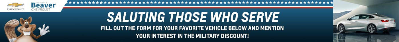 beaver chevrolet military discount