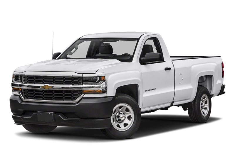 2018 Chevy Silverado 1500 On White