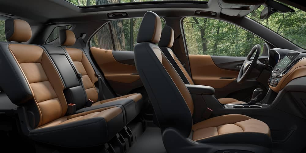 2019 Chevrolet Equinox Black and Tan Leather Seats