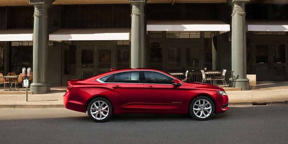2019 chevrolet impala sideview parked
