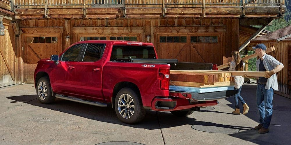 2019 Chevrolet Silverado with Wood in Back