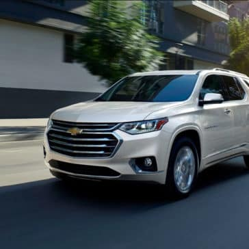 2019 Chevrolet Traverse on street