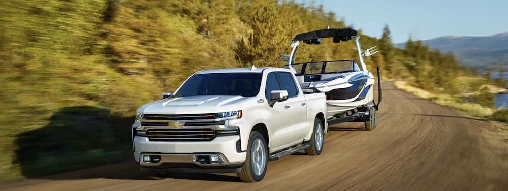 2019 Chevrolet Silverado 1500 towing a boat