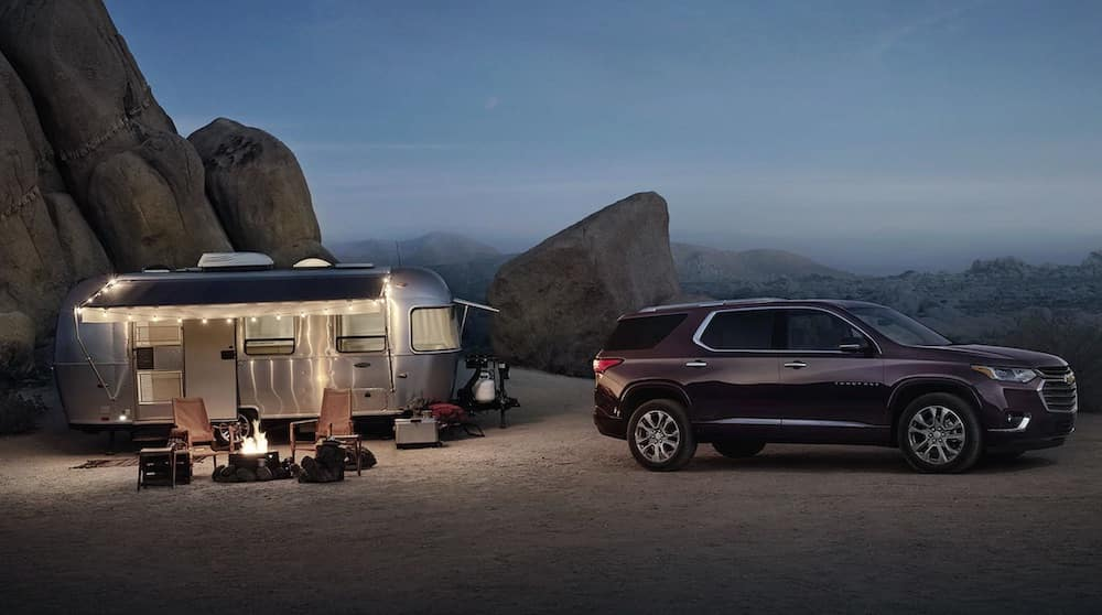 2019 Chevrolet Traverse with camping trailer