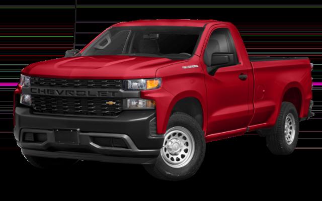 2019 Chevy Silverado in red