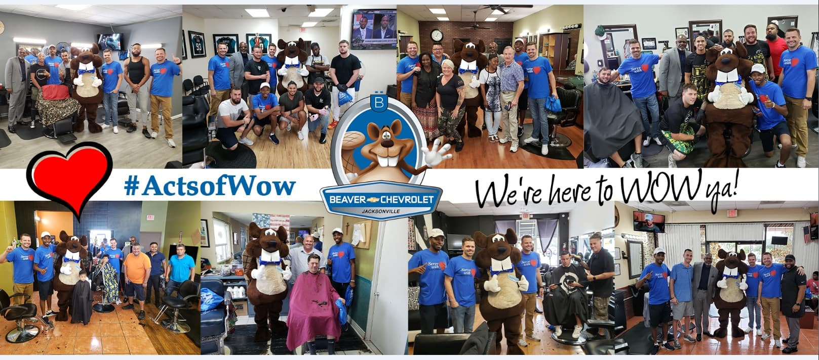 Random Acts of WOW 4 Beaver Chevrolet Barber Shops Jacksonville Florida