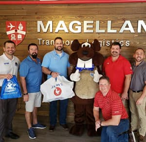 Ryan Kunze at Magellan Transport Logistics Beaver Wow Ya Lunch