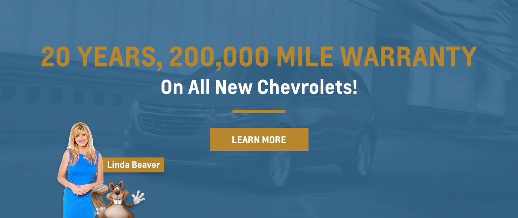 20 Year, 200,000 Mile Warranty Hero Background