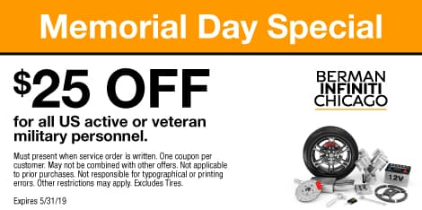 Memorial Day Special: $25 OFF for all US active or veteran military personnel.