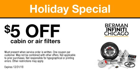 Holiday Special: $5 OFF cabin or air filters