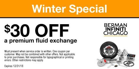 Winter Special: $30 OFF a premium fluid exchange