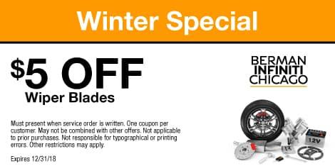 Winter Specials: $5 OFF Wiper Blades