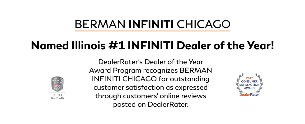 Berman INFINITI Chicago rated #1 INFINITI Dealer in Illinois for 2017