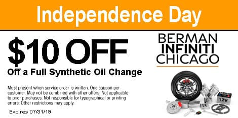 Independence Day: $10 OFF a Full Synthetic Oil Change