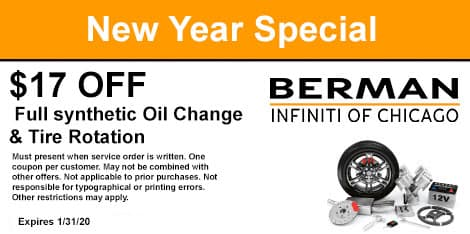 New Year Special: $17.00 OFF a Full synthetic Oil Change & Tire Rotation