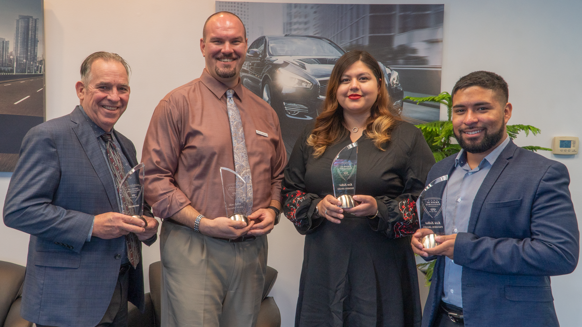 INFINITI Award of Excellence winners at Berman INFINITI Chicago!