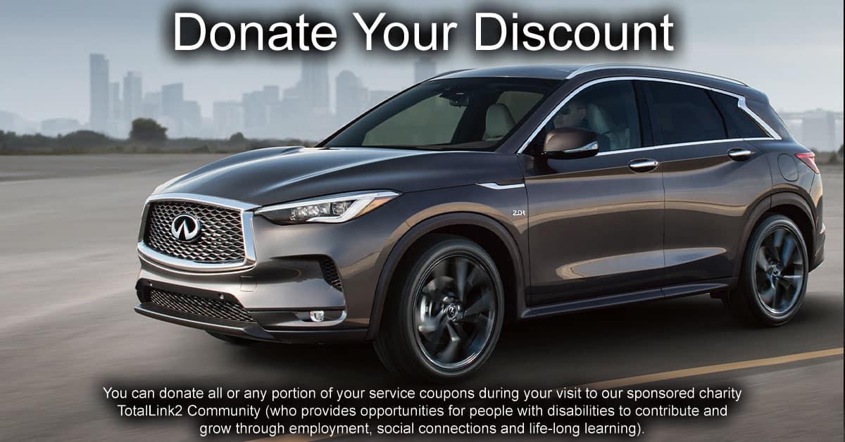 Donate Your Discount at Berman INFINITI Chicago