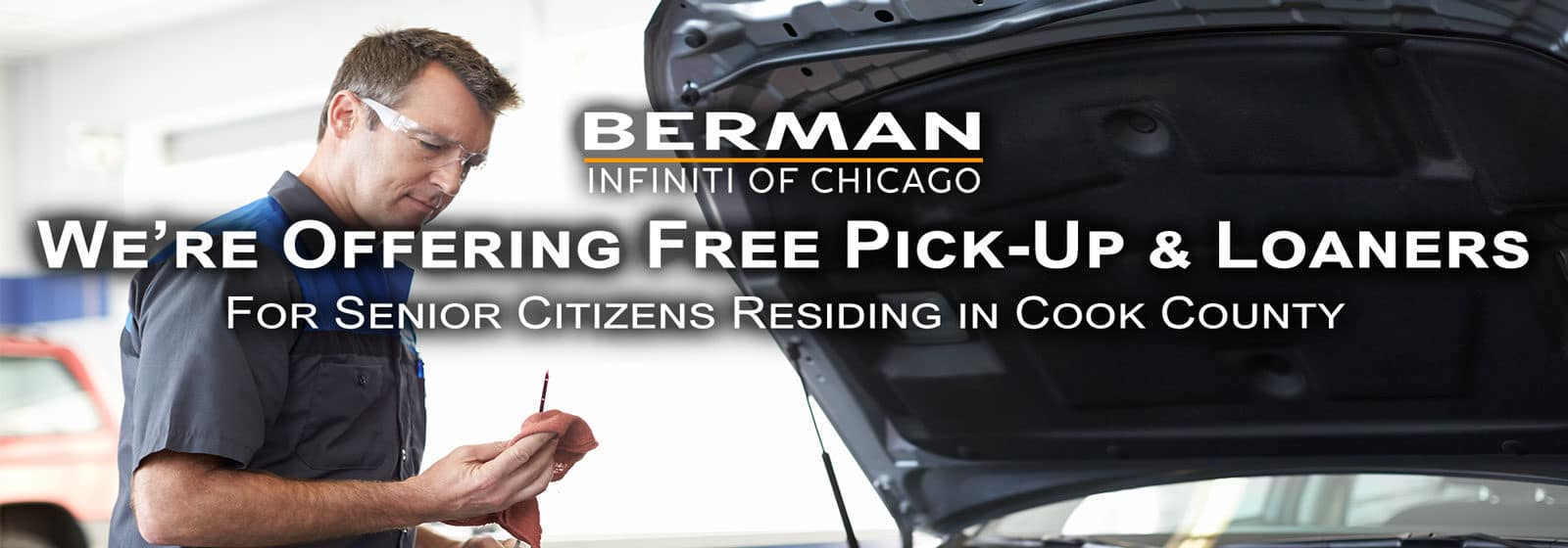 We are offering free pick up and loaners to senior citizens in Cook County