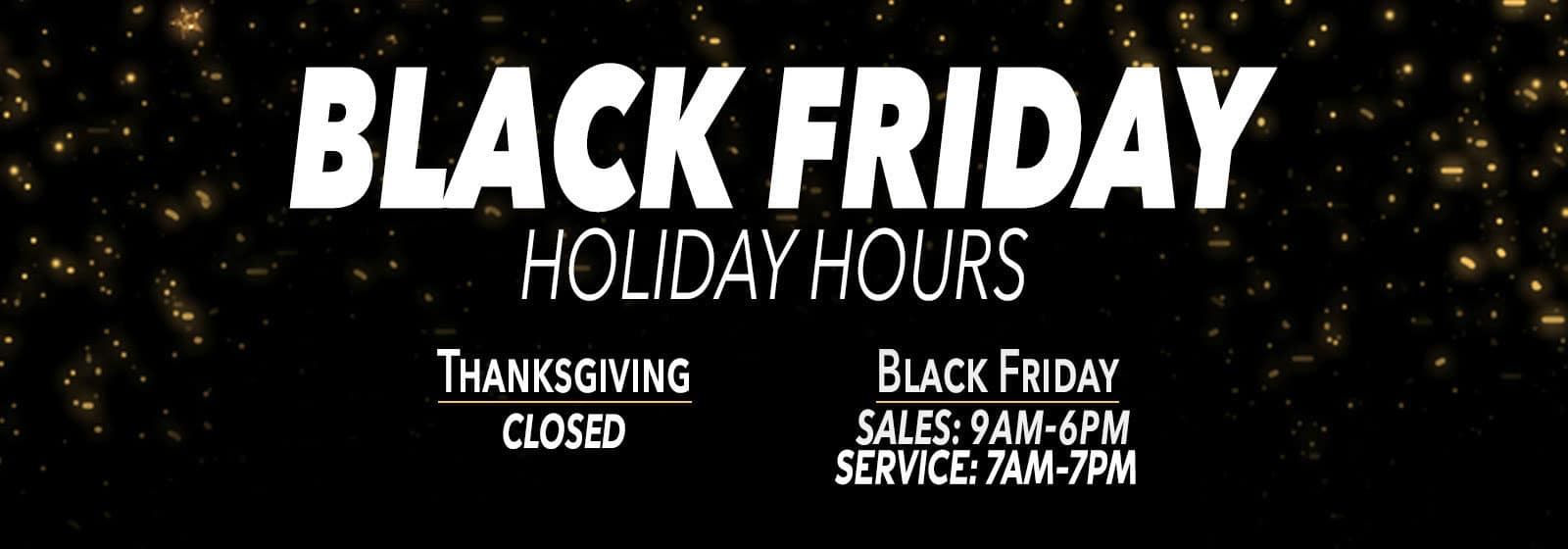 Black Friday Holiday Hours