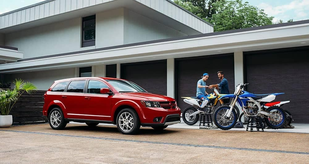 2019 Dodge Journey In Driveway