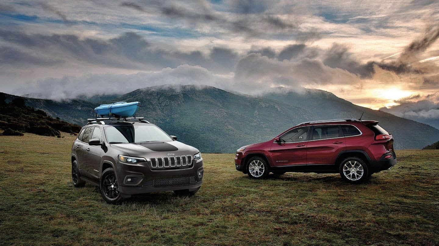 2020 Jeep Cherokee on mountain