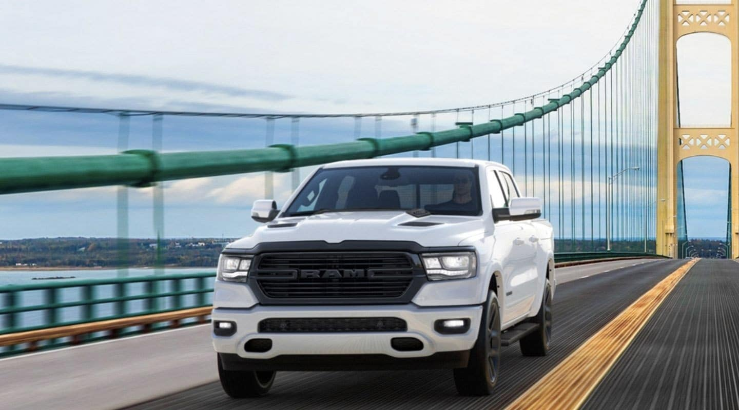 2020 RAM 1500 Night Edition on bridge