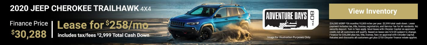 2020 JEEP CHEROKEE TRAILHAWK LEASE EPCIAL