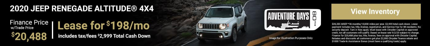 2020 JEEP RENEGAE LEASE SPECIAL