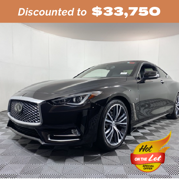 Pre-Owned 2019 INFINITI Q60 3.0t LUXE RWD 2D Coupe