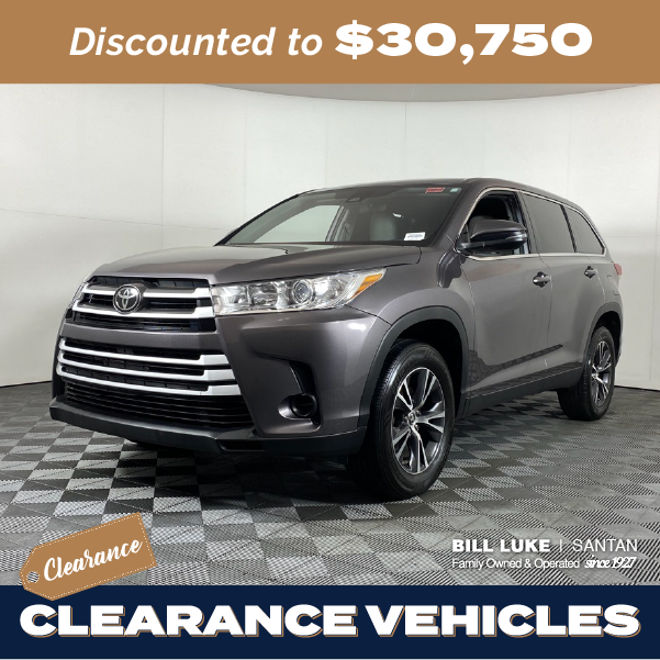 Pre-Owned 2019 Toyota Highlander LE FWD 4D Sport Utility