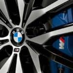 Closeup of BMW Logo on Wheel