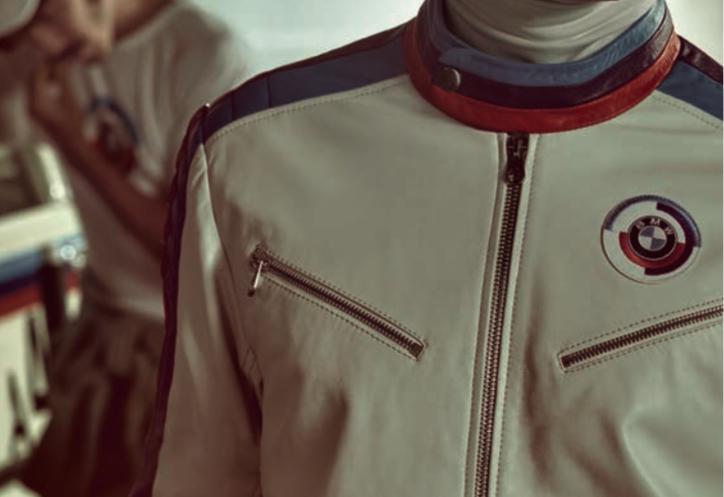 BMW White Leather Jacket