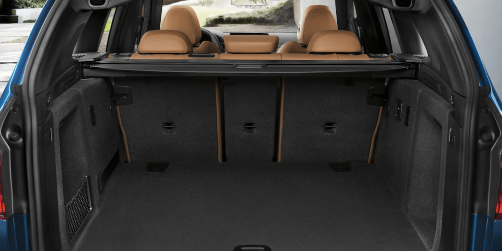 2020 BMW X3 Cargo space banner with seats down