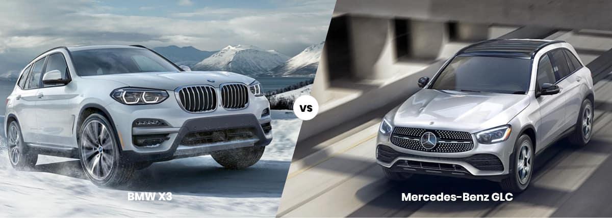 2021 BMW X3 vs Mercedes-Benz GLC Comparison Banner