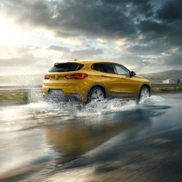 2018 BMW X2 Driving Through Rain